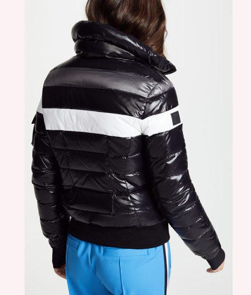 Black Striped Jenn Yu Bomber Jacket