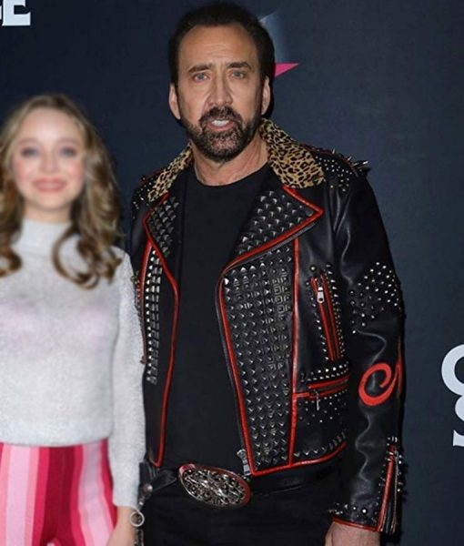 Color Out Of Space Nicolas Cage Jacket With Studs