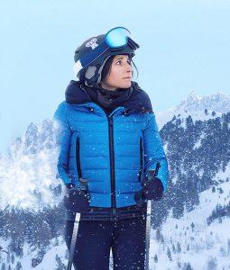 Julia Louis-Dreyfus Downhill Blue Puffer Jacket