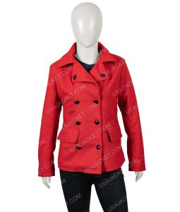 Christmas in Love Brooke D'Orsay Red Peacoat