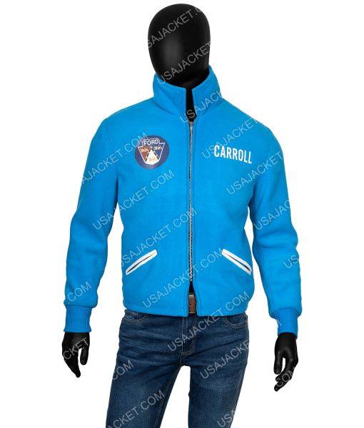 Ford v Ferrari Carroll Shelby Blue Cotton Jacket