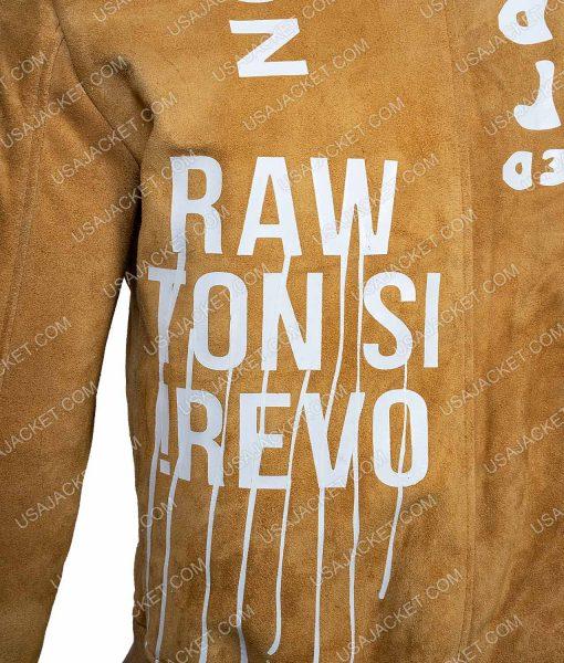 Gigi Hadid Suede Leather Jacket