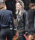 Guns Akimbo Nix Leather Studded Jacket