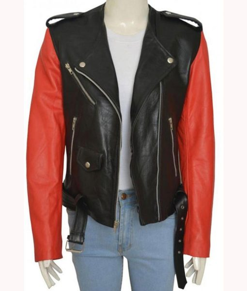 Hailey Baldwin Biker Jacket