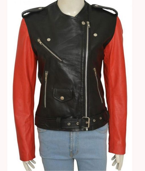 Hailey Baldwin Motorcycle Jacket