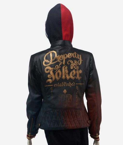 Harley Quinn Daddy's Lil' Monster Quilted Jacket With Hood
