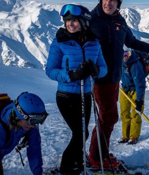 Julia Louis-Dreyfus Downhill Blue Billie Puffer Jacket