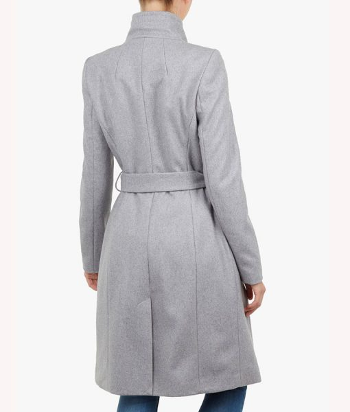 Spinning Out Sarah Wright Grey Wrap Coat