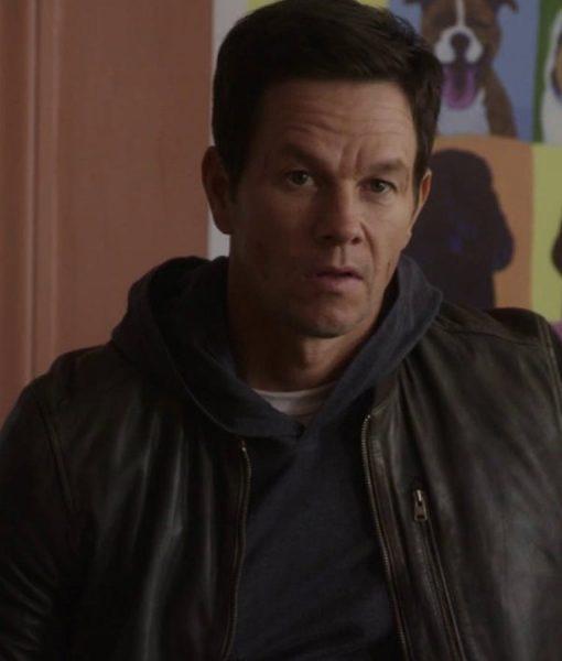 Mark Wahlberg Bomber Leather Spenser Jacket