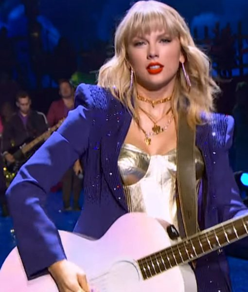 Miss Americana Taylor Swift Purple Sequins Blazer