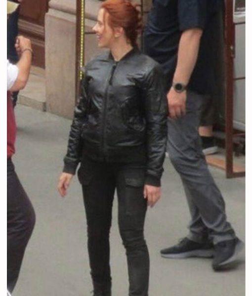 Black Widow 2021 Natasha Romanoff Bomber Jacket