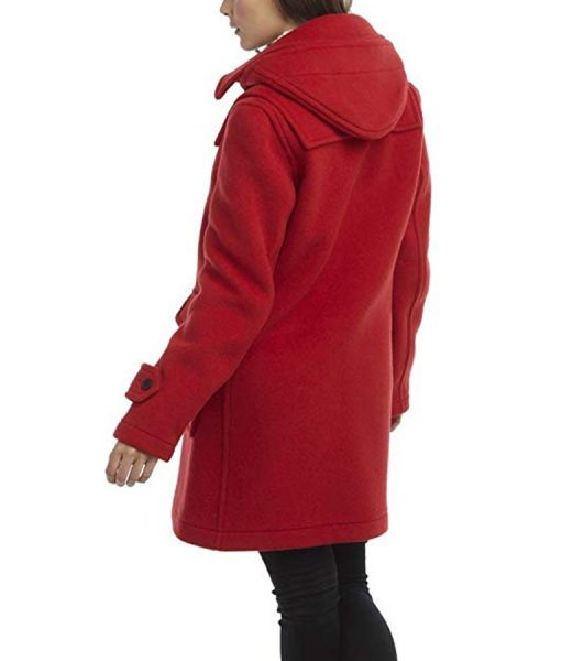 To All the Boys P.S. I Still Love You Lara Jean Red Duffle Coat