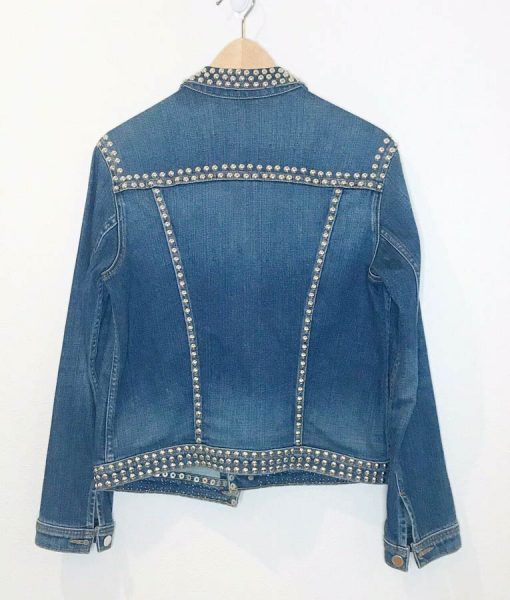 Spinning Out Amanda Zhou Jenn Yu Studded Denim Jacket