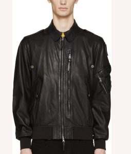 Evan Roderick Spinning Out Bomber Leather Jacket