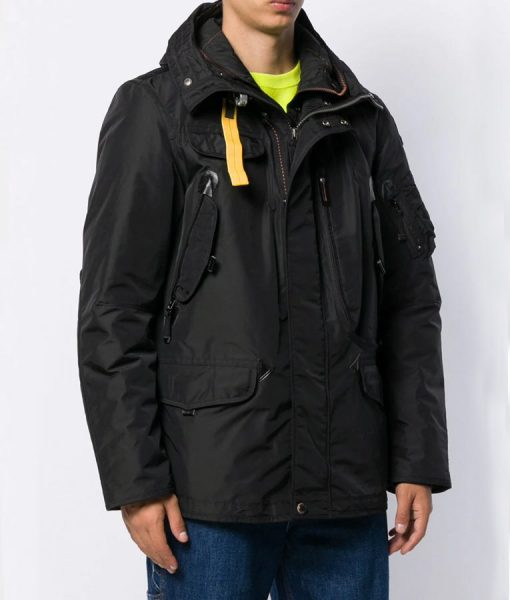 Spinning Out Justin Davis Black Padded Jacket