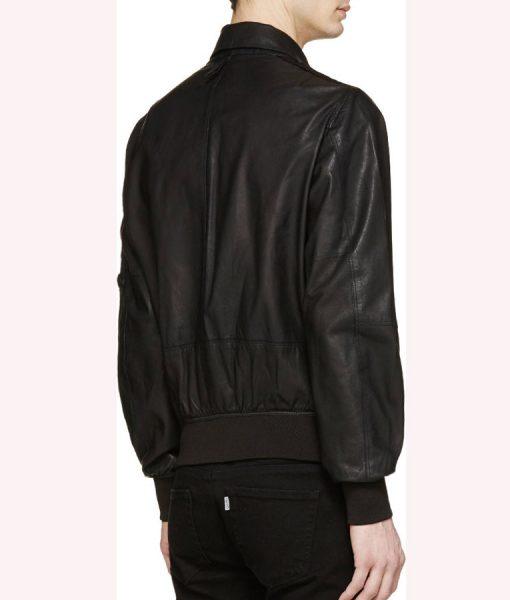 Spinning Out Justin Davis Black Leather Jacket