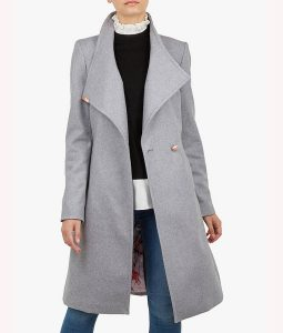 Mandy Davis Spinning Out Grey Wrap  Coat