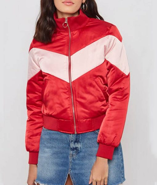 Spinning Out Willow Shields Serena Baker Bomber Jacket