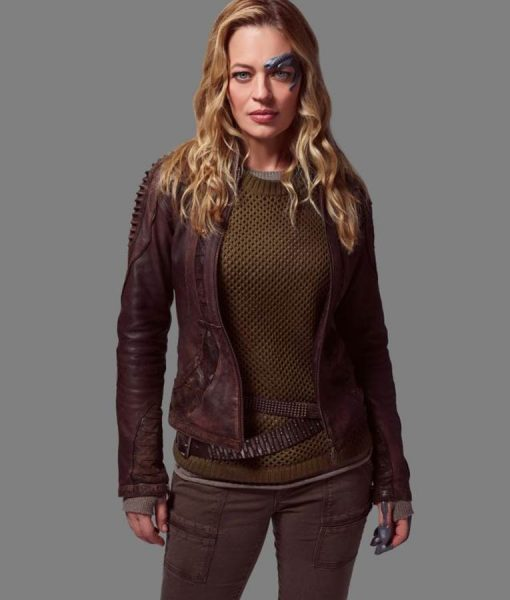 Star Trek Picard Jeri Ryan Leather Jacket