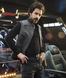 Santiago Cabrera Star Trek Picard Grey Vest