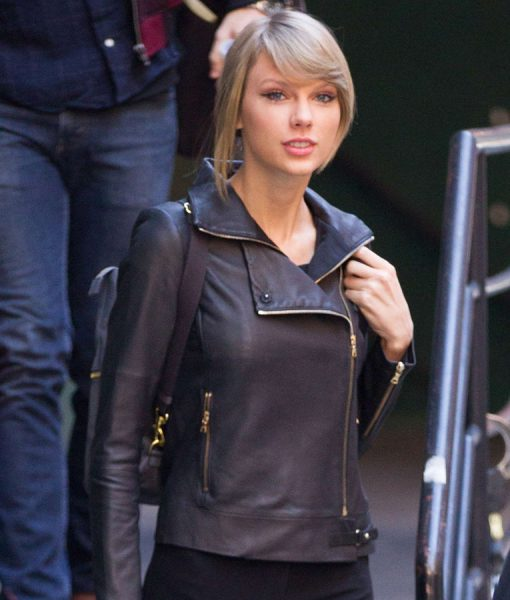 Talyer Swift Black Leather Jacket