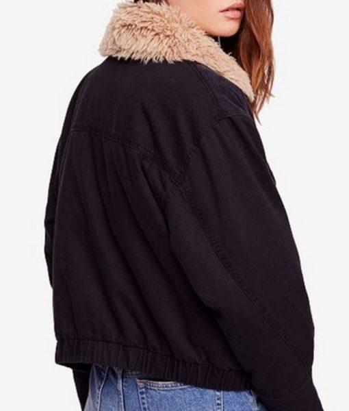Oversize Black Denim Jacket