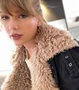 Taylor Swift Black Sherpa Jacket