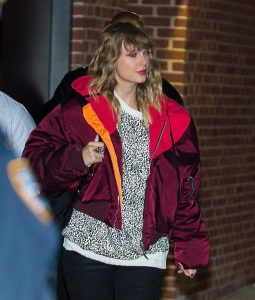 Taylor Swift Burgundy Oversize Jacket