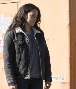 The Crossing Natalie Martinez Black Sherpa Jacket