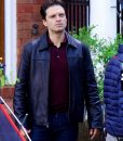 Sebastian Stan The Last Full Measure Black Leather Jacket