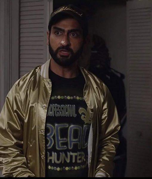Jibran The Lovebirds Golden Bomber Jacket