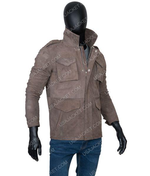 The Stranger Richard Armitage brown jacket