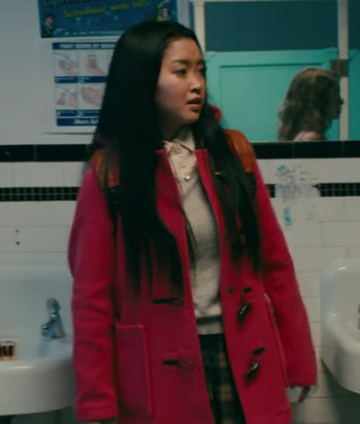 Red Lara Jean Duffle Coat