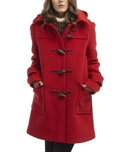 To All the Boys P.S. I Still Love You Lana Condor Red Duffle Coat