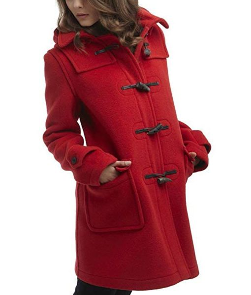 To All the Boys P.S. I Still Love You Red Duffle Coat