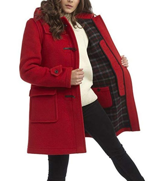 To All the Boys P.S. I Still Love You Lana Condor RedDuffle Coat