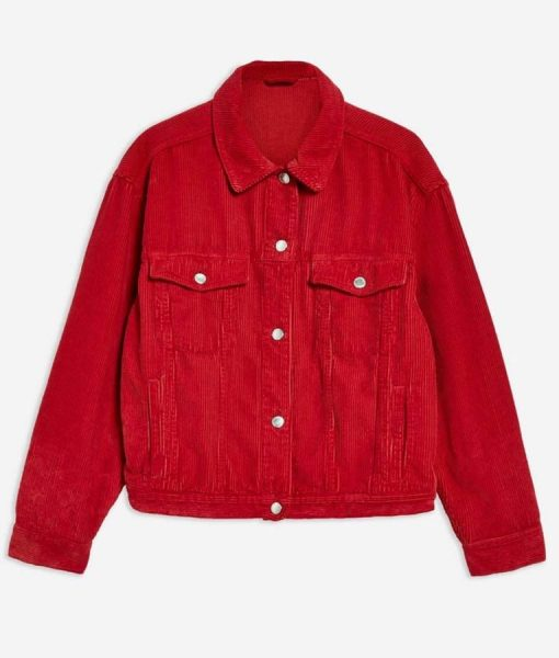 Spinning Out Willow Shields Red Corduroy Jacket