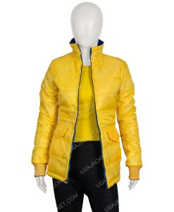 Yellow Puffer Billie Eilish Jacket