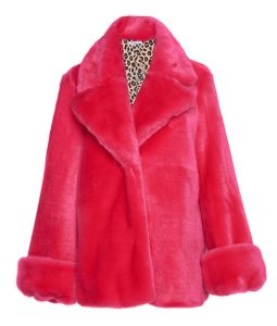 Taylor Swift Pink Fur Coat