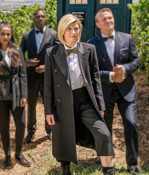 Doctor Who Season 12 Jodie Whittaker Black The Doctor Coat