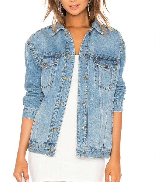 All American Olivia Baker Denim Jacket With Studs