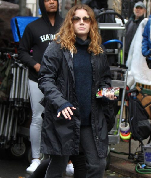 Amy Adams The Woman in the Window black Coat