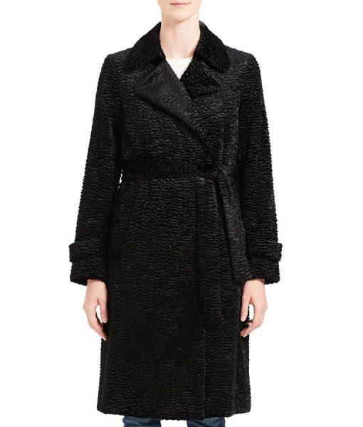 Arrow Season 08 Willa Holland Black Coat