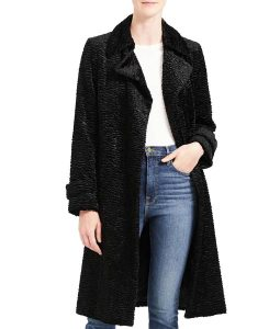 Arrow Season 08 Thea Queen Black Textured Coat