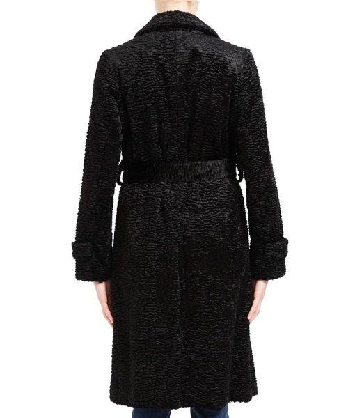 Arrow Season 08 Willa Holland Black Textured Coat