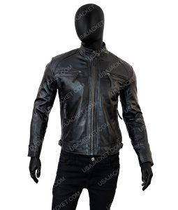 Mens Cafe Racer Vantage Biker Jacket