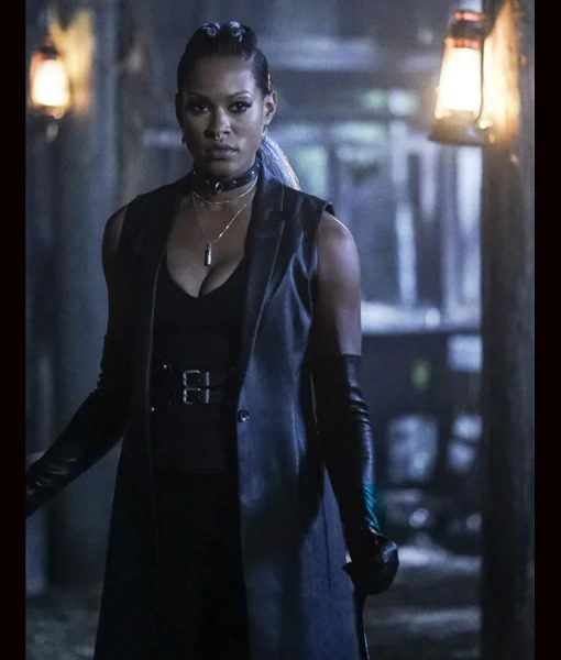 Black Lightning S02 Giselle Cutter Leather Coat