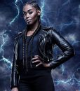 Black Lightning Thunder Leather Jacket