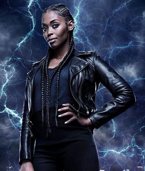 Black Lightning Thunder Leather Jacket