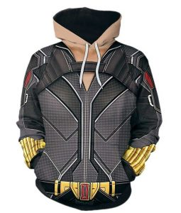 Black Widow Natasha Printed Hooded Jacket
